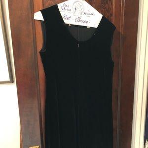 Dresses & Skirts - Italian made sleeveless black velvet dress